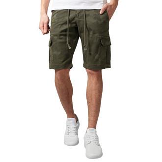 Herren Shorts URBAN CLASSICS - Camo Cargo - olive camo, URBAN CLASSICS