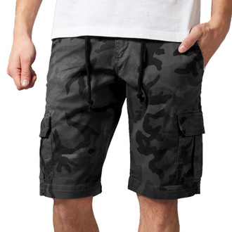 Herren Shorts URBAN CLASSICS - Camo Cargo - grau camo, URBAN CLASSICS