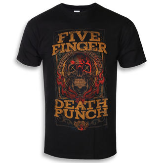 Herren T-Shirt Metal Five Finger Death Punch - Wanted - ROCK OFF, ROCK OFF, Five Finger Death Punch