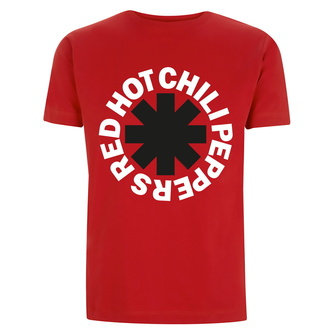 Herren-T-Shirt Red Hot Chili Peppers - Klassisches B&W-Sternchen - Rot, NNM, Red Hot Chili Peppers