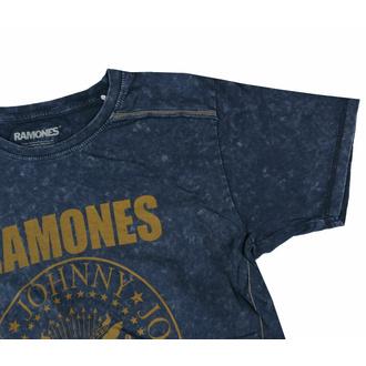 Herren T-Shirt Ramones - Presidential Morel Snow Wash - MARINEBLAU, ROCK OFF, Ramones