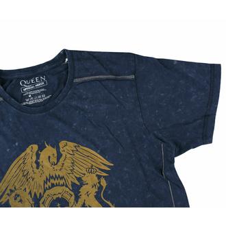 Herren T-Shirt Queen - Classic Crest Snow Wash - MARINEBLAU, ROCK OFF, Queen