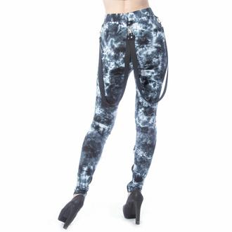 Damen Leggings CHEMICAL BLACK - MORWENNA - SCHWARZ/WEISS TIE DYE, CHEMICAL BLACK