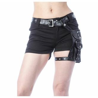 Damen Shorts POIZEN INDUSTRIES - MUSETTE - SCHWARZ, POIZEN INDUSTRIES