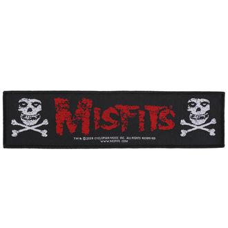 Patch Aufnäher Misfits - Crossbones - RAZAMATAZ, RAZAMATAZ, Misfits