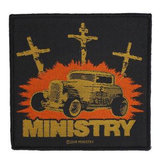 Patch Aufnäher Ministry - Jesus Built My Hotrod - RAZAMATAZ, RAZAMATAZ, Ministry