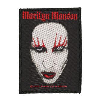 Aufnäher MARILYN MANSON - FACE - RAZAMATAZ, RAZAMATAZ, Marilyn Manson