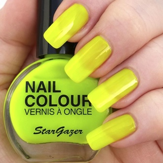 Nagellack STAR GAZER - Neon Yellow, STAR GAZER