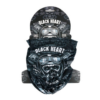 Nackenwärmer BLACK HEART - PISTON SKULL - SCHWARZ, BLACK HEART