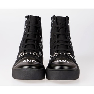 Unisex High Top Sneakers - DISTURBIA, DISTURBIA
