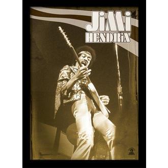 Poster mit Bilderrahmen Jimi Hendrix - Live - PYRAMID POSTERS, PYRAMID POSTERS, Jimi Hendrix