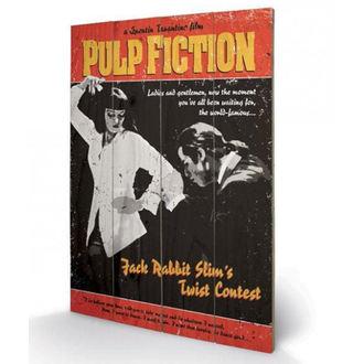 Holzbild Pulp Fiction - (Twist Contest) - PYRAMID POSTERS, PYRAMID POSTERS, Pulp Fiction