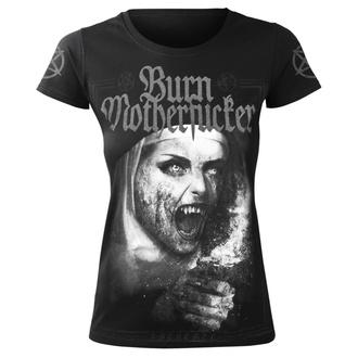 Damen T-Shirt Hardcore - BURN MOTHERFUCKER - AMENOMEN, AMENOMEN