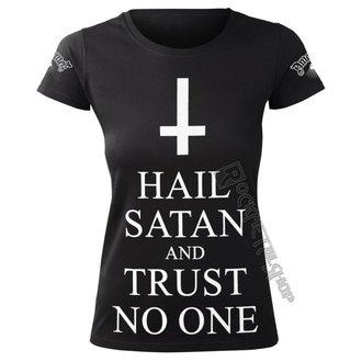 Damen T-Shirt Hardcore - HAIL SATAN AND TRUST NO ONE - AMENOMEN, AMENOMEN