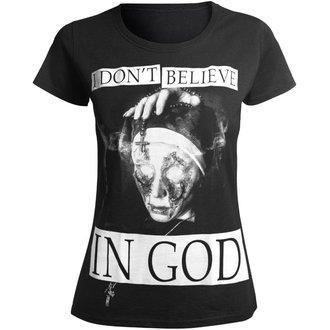 Damen T-Shirt Hardcore - I DON'T BELIEVE IN GOD - AMENOMEN, AMENOMEN