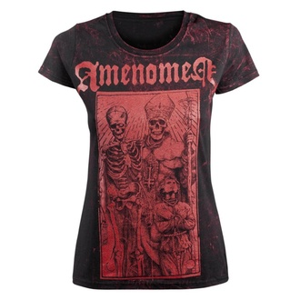 Damen T-Shirt AMENOMEN - POPE AND DEATH, AMENOMEN