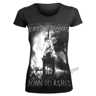 Damen T-Shirt - BURNING DOGMAS - VICTORY OR VALHALLA, VICTORY OR VALHALLA