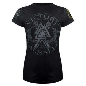 Damen T-Shirt VICTORY OR VALHALLA - FUCK CALM..., VICTORY OR VALHALLA