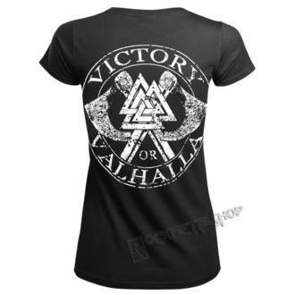 Damen T-Shirt - VIKING SKULL - VICTORY OR VALHALLA, VICTORY OR VALHALLA