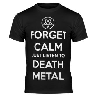 Herren T-Shirt AMENOMEN - FORGET CALM JUST LISTEN TO DEATH METAL, AMENOMEN
