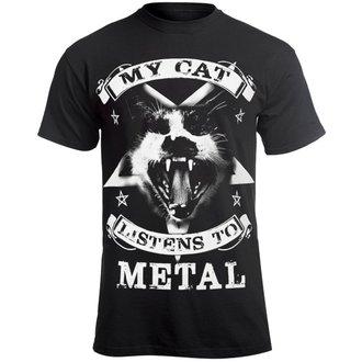 Herren T-Shirt Hardcore - MY CAT LISTENS TO METAL - AMENOMEN, AMENOMEN