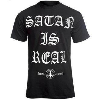 Herren T-Shirt Hardcore - SATAN IS REAL - AMENOMEN, AMENOMEN