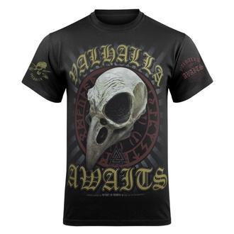 Herren T-Shirt VICTORY OR VALHALLA - CROW SKULL - VOV025KM