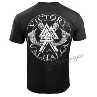 Herren T-Shirt - VIKING SKULL - VICTORY OR VALHALLA, VICTORY OR VALHALLA