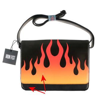 Handtasche IRON FIST - Fire Sign - Schwarz - BESCHÄDIGT, IRON FIST