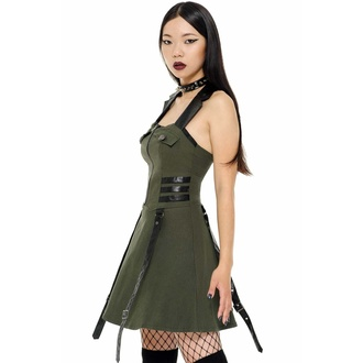 Damenkleid KILLSTAR - Psy-Ops - KHAKI, KILLSTAR