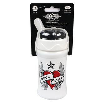 Kinder Trinkflasche (340ml) ROCK STAR BABY - Heart & Wings, ROCK STAR BABY