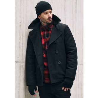 Männer Mantel Winter Brandit - Pea Coat - Black, BRANDIT