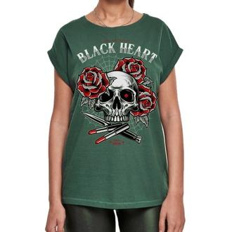 Damen T-Shirt BLACK HEART - LIPSTICK SKULL EXT - GRÜN, BLACK HEART
