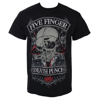 Herren T-Shirt Metal Five Finger Death Punch - Wicked - Schwarz - ROCK OFF, ROCK OFF, Five Finger Death Punch