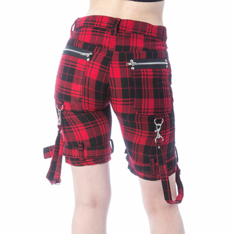 Damen Shorts CHEMICAL BLACK - RENITA - ROTER TARTAN, CHEMICAL BLACK