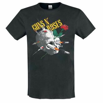 Herren T-Shirt Guns N' Roses - NEEDLE SKULL - CHARCOAL - AMPLIFIED, AMPLIFIED, Guns N' Roses