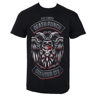 Herren T-Shirt Metal Five Finger Death Punch - Biker Badge - Schwarz - ROCK OFF, ROCK OFF, Five Finger Death Punch