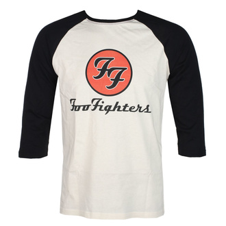 Herren 3/4 Arm Shirt FOO FIGHTERS - RED CIRCULAR LOGO - ECRU / SCHWARZ - GOT TO HAVE IT, GOT TO HAVE IT, Foo Fighters
