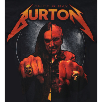 Herren T-Shirt Cliff Burton - Ray & Cliff Burton - Schwarz, NNM, Metallica