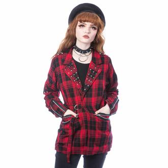 Damen Jacke (Blazer) CHEMICAL BLACK - SARDONYX - ROTER TARTAN, CHEMICAL BLACK