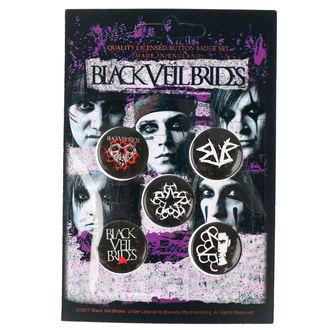 Ansteckbutton Set Black Veil Brides - RAZAMATAZ, RAZAMATAZ, Black Veil Brides
