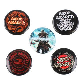 Ansteckbutton Set Amon Amarth - RAZAMATAZ, RAZAMATAZ, Amon Amarth