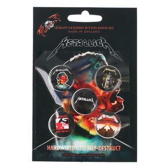 Ansteckbutton Set Metallica - RAZAMATAZ - BB016