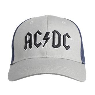 Kappe in Grau/Marineblau AC/DC mit schwarzem Logo , ROCK OFF, AC-DC