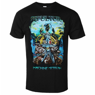 Herren T-Shirt Sepultura - Machine Messias - Schwarz - INDIEMERCH, INDIEMERCH, Sepultura