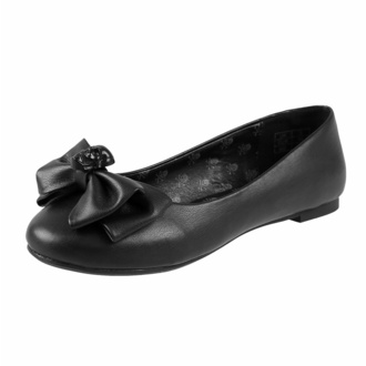 Damen Ballerinas KILLSTAR - Bow Down Ballet - Schwarz, KILLSTAR