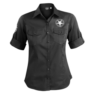 Damen 3/4 Arm Bluse Hemd AMENOMEN - CHURCH OF SATAN, AMENOMEN