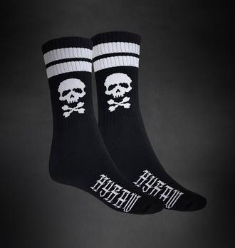 Socken HYRAW - SCHÄDEL - SCHWARZ, HYRAW