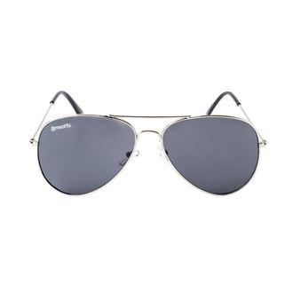 Sonnenbrille MEATFLY - SCOTT - A - 4/17/55 - Silber - Schwarz, MEATFLY