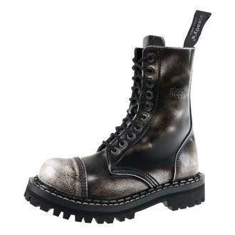 Stiefel Boots STEADY´S - 10 dírkové - Weiß schwarz, STEADY´S